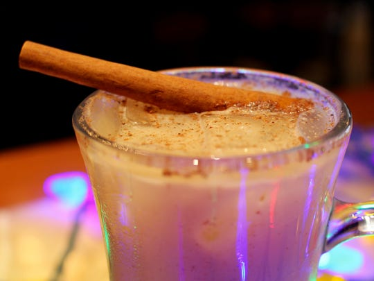 Chilled Egg Nog made by A.J. Davis, mixologist at The American Gastropub.