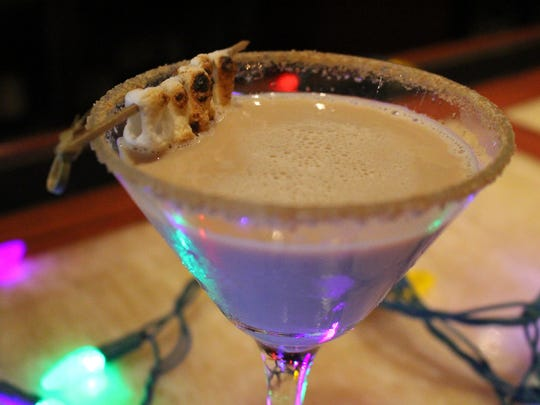 S'mores martini made by A.J. Davis, mixologist at The American Gastropub.