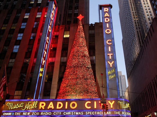 Radio City Music Hall is all aglow during the holiday