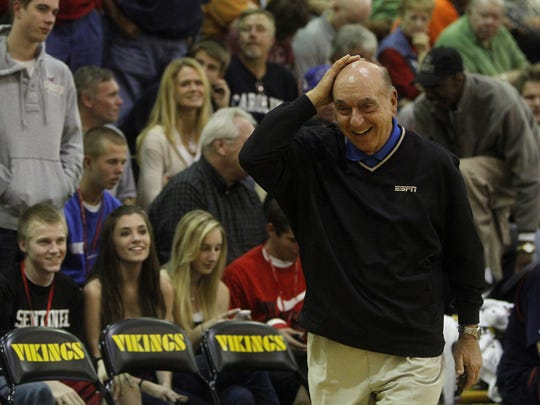 ESPN's Dick Vitale has attended a number of City of Palms Classic title games, including this one  between Elizabeth (N.J.) St. Patrick and Alpharetta (Georgia) Milton in 2010 at Bishop Verot.