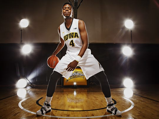 Iowa freshman guard Isaiah Moss is trying to get bulked up while redshirting this season.