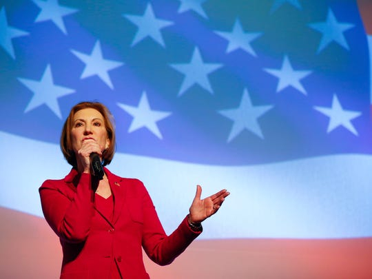 Republican presidential candidate Carly Fiorino speaks