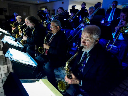 The Unforgettable Big Band performs during Swing at