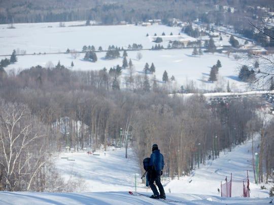 Alpine skiing for the Badger State Games took place at Granite Peak in Wausau, Saturday, Jan. 23, 2016.