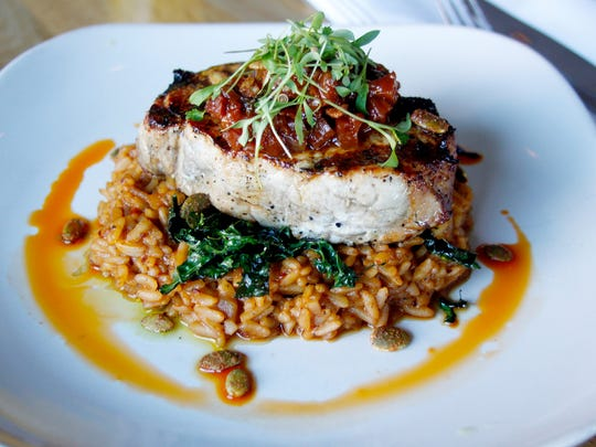 The Tender Belly Duroc pork chop at The Gladly.