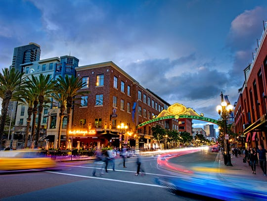 The Gaslamp Quarter boasts buzzy restaurants and sleek
