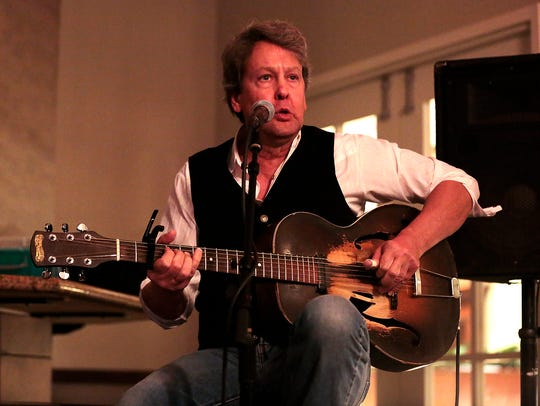 Rob Lumbard performs at the Winter Blues Fest on Feb.