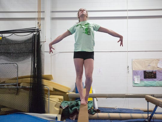 SPASH gymnast Lacie Ligman, a senior, would like nothing