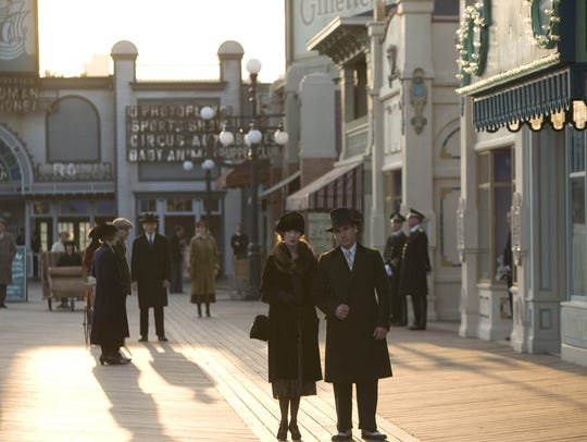 "Extras in a scene from HBO's drama series ""Boardwalk"