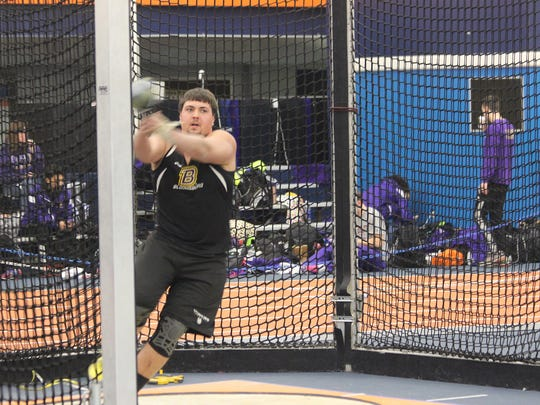 Bloomsburg's Patrick Lehman, a Spring Grove graduate, holds the sixth best distance in the weight throw and 11th in the shot put heading into the PSAC indoor track and field championships.