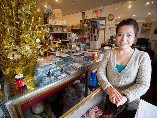Panda Market owner Xe Yang said she's nervous about the Plover Road construction effecting her business, Wednesday, Feb. 24, 2016.