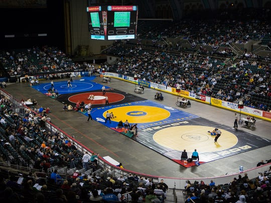 The NJSIAA Individual Wrestling Tournament is at Boardwalk