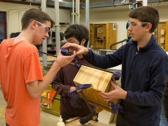 Students in the Ithaca chapter of the Technology Student