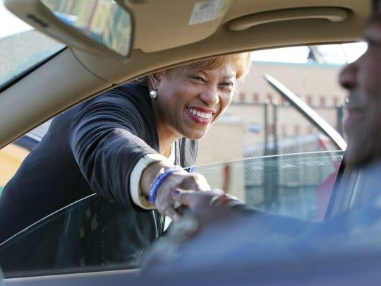 On Nov. 4, 2008, then-Southfield Mayor Brenda Lawrence,