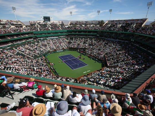 Stadium 1 at the Indian Wells Tennis Garden is undergoing major reconstruction leading up to the 2017 BNP Paribas Open.