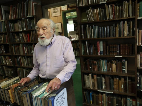 Tom Macaluso at his Macaluso Books in Kennett Square, Pa.