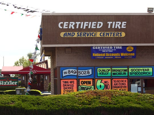 Certified Tire and Service Centers has about 40 stores throughout Southern California, including this one in Banning, which was photographed on Monday, April 11, 2016.