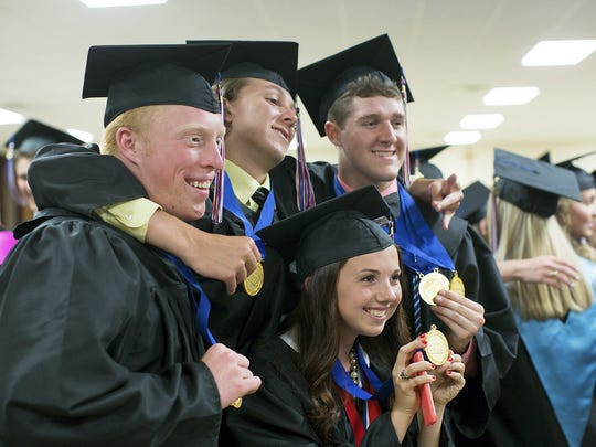 Students of Delone Catholic High School attend commencement Friday, May 29, 2015.