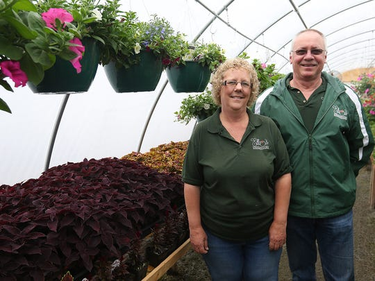 Owners Cheryl and Al Marth at Ella's Greenhouse at 1014 Church Avenue in Wisconsin Rapids, Friday, April 29, 2016. Ella's Greenhouse opened April 30.