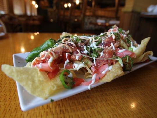 The Timbers version of nachos: tuna nachos with crispy