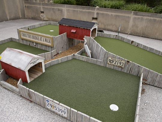 Mini Golf at the IMA, which features 18 holes designed by local, regional and national artists, was designed in honor of IndianaÕs bicentennial and each hole is inspired by Indiana history. The course opens to IMA members on Sunday and the general public on May 10.