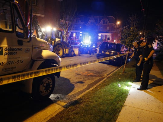Wilmington police investigate a shooting on June 24 on Broom Street in Wilmington. A mayoral debate on public safety is planned May 26.