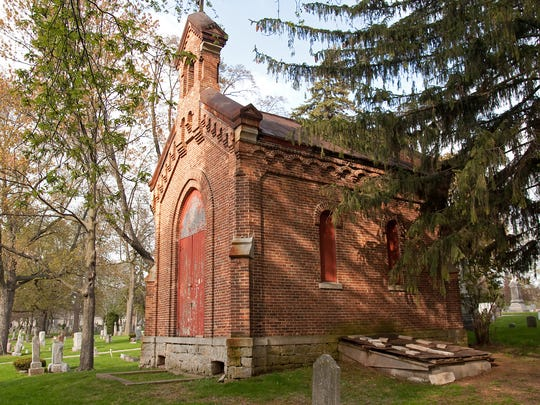 The crumbling chapel in Allouez Cemetery might be torn down, as early as this summer.