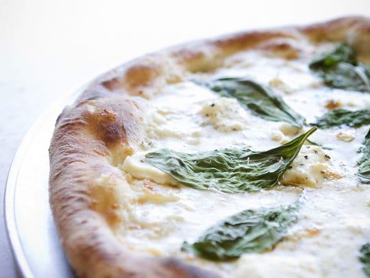 The white pizza from La Piazza Al Forno in Glendale,