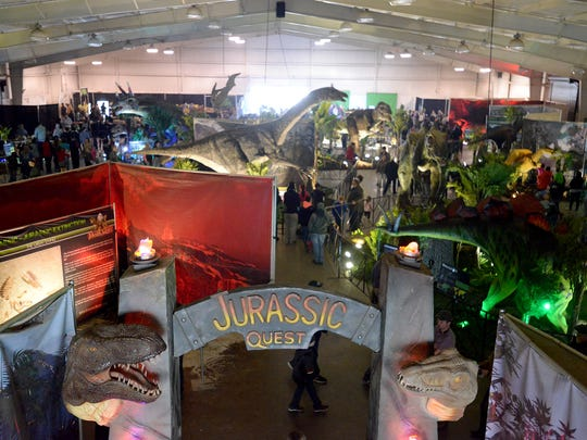 Jurassic Quest dinosaur exhibit is in Montgomery for the weekend at the convention center.
