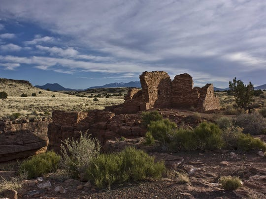 WUPATKI NATIONAL MONUMENT: Lomaki Pueblo at Wupatki National Monument.