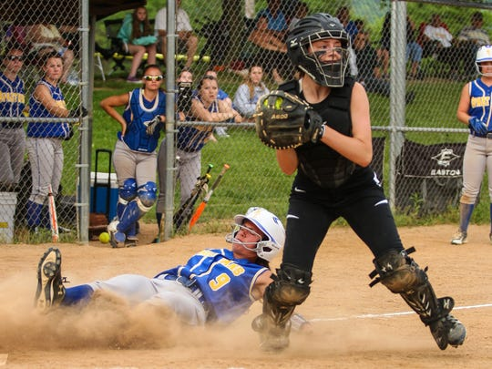 Action from the Class A sub-regional softball game at BAGSAI field in Binghamton on Thursday, June 2, 2016.