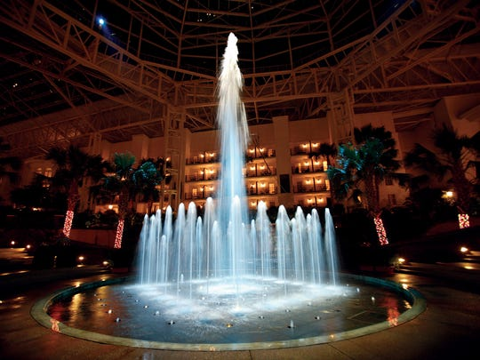 """Opryland's """"Sounds of Summer"""" show features fountains dancing with lights and music to songs."""