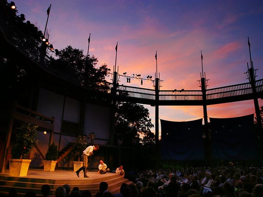 Jackson Doran takes a bow after performing at Shakespeare in the Park in 2004.  -Text: Zach Boyden-Holmes/ICPC 6/17/04Jackson Doran as Claudio takes a bow after proforming a song during thursday eveings proformance in City Park.