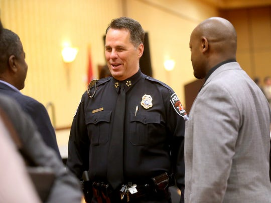The Murfreesboro Police Chief Karl Durr talks with