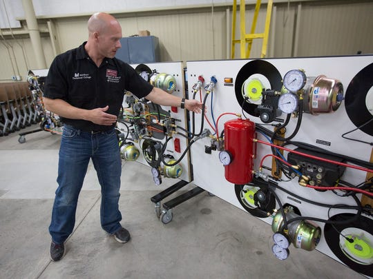Diesel and heavy equipment technician instructor Chris