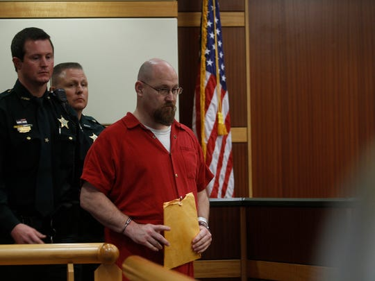 In this file photo, Curtis Wayne Wright and Mark Sievers appear together during a child custody hearing in Fort Myers.