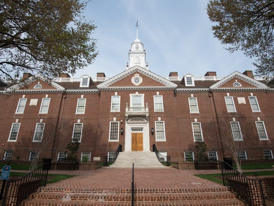 Legislative Hall in Dover is shown on April 21. The