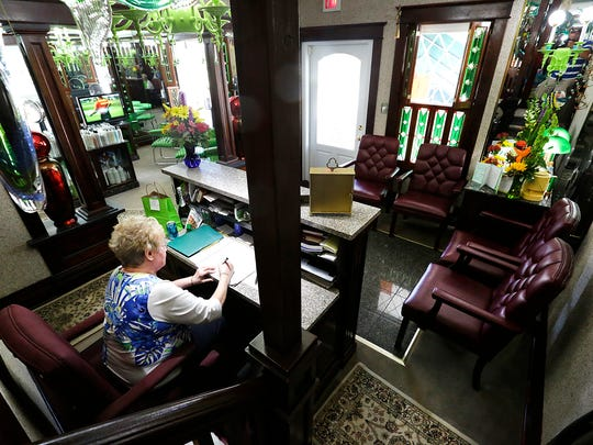 Joyce Bartlet of Fond du Lac helps manage the front