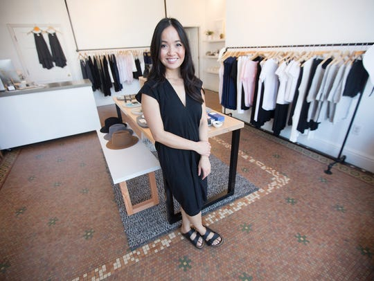 Assembly owner Quyen Hom stands in her boutique in