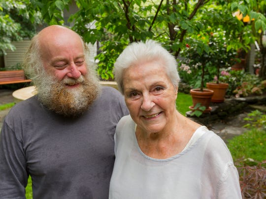 The N. Aurora Street hidden garden of Bill Carnie and Mariann Loveland is one of eight that will be on the annual Fall Creek Garden Tour Sunday in Ithaca.