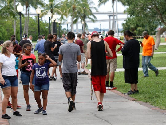 Hundreds joined in the Pokemon Go craze July 14 at the Edison Mall and Centennial Park in Fort Myers.