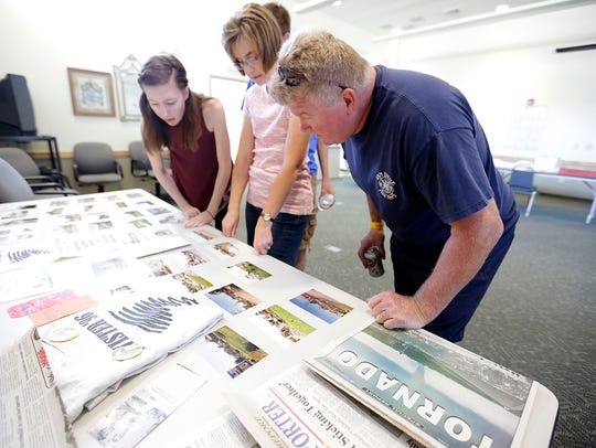 Becca and Lisa Sheahan of Oakfield and Mark Lee of