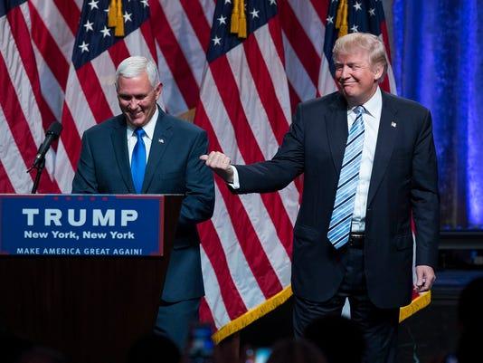 AP CAMPAIGN 2016 TRUMP PENCE A ELN USA NY