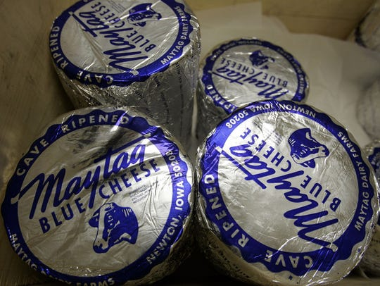 Maytag Raw Milk Blue Cheese is produced in Newton.
