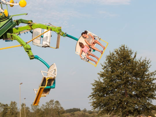 A ride at the Johnson County Fair.