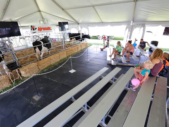 People gather at Fond du Lac County Fair's Ag Birthing