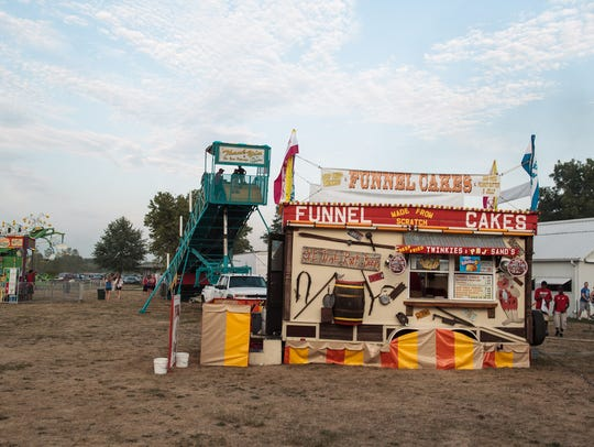 A funnel cake stand at the Johnson County Fair in 2012.