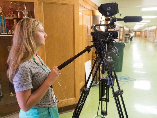 Pacelli graduate Sienna Borchardt, 18, uses a camera