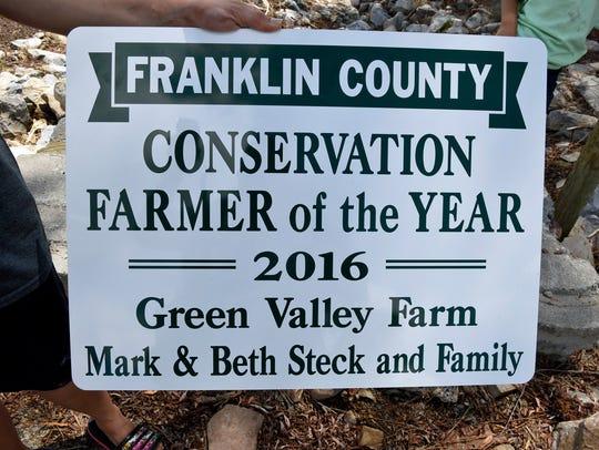 The Mark and Beth Steck, Dry Run,  farm family has