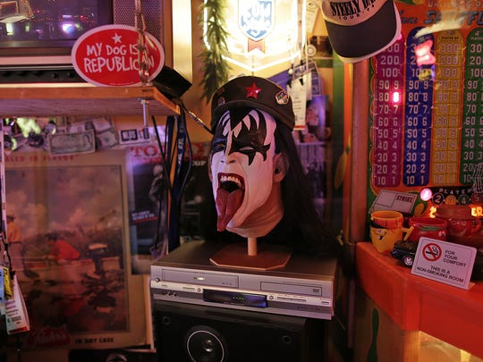 Brad Lemerond's KISS collection includes a life-like mask of Gene Simmons that has been known to scare small children.
